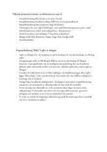 Miljöcertifiering_utvärderingsprinciper och programförklaring Lights in Alingsås 2016