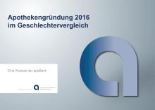Grafiken: Apothekengründung 2016 im Geschlechtervergleich