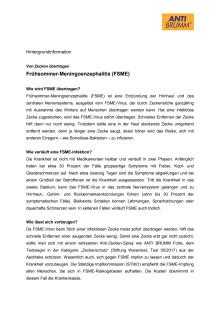 Hintergrundinformation: Frühsommer-Meningoenzephalitis (FSME)