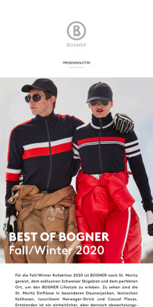 BEST OF BOGNER Fall/Winter 2020