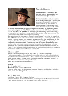 Tommie Haglund – Biography in English