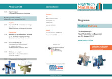 Fachkonferenz HighTechMatBau 2018 Programm