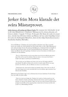 Jerker från Mora klarade det svåra Mästarprovet