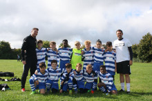 Young Netherton footballers attract sponsorship from rail firm