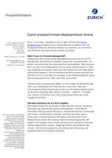 Zurich erweitert Firmen ModularSchutz Online