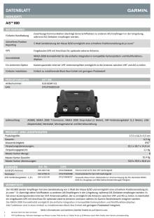 Datenblatt Garmin AIS 800