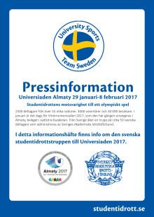 Pressinformation Vinteruniversiaden 2017