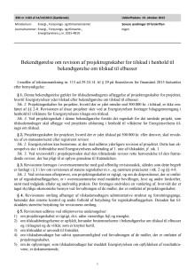 Bekendtgørelse om revision af projektregnskaber for tilskud i henhold til bekendtgørelse om tilskud til elbusser