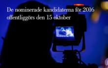 Nomineringarna till Litteraturpriset till Astrid Lindgrens minne 2016 offentliggörs den 15 oktober