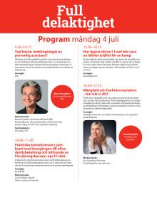 Program under Almedalsveckans mötesplats Full delaktighet den 4-7 juli 2016
