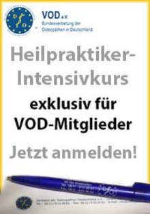 Heilpraktiker-Intensivkurs ausgebucht: Weiterer Kurs für VOD-Mitglieder