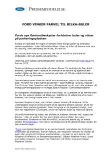 FORD VINKER FARVEL TIL BILKA-BULER