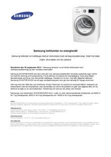 Samsung torktumlar nu energisnålt