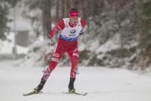 Lars Helge Birkeland går dagens stafett