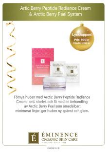 Éminence Organics Arctic Berry Peptide Radiance Cream Julkit 2019 A4 Skylt