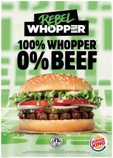 Rebel Whopper® - Ab heute führt auch BURGER KING® einen pflanzlichen Burger in allen deutschen Restaurants