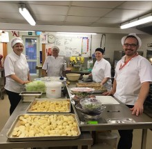 ellenor catering team make Christmas extra special for patients.