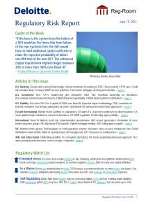 Deloitte Regulatory Risk Report 2011