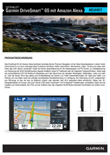 Datenblatt Garmin Drivesmart 65 mit Amazon Alexa