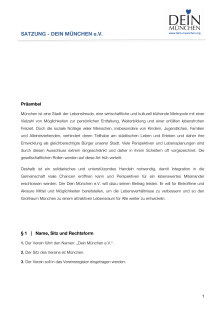 DEIN MÜNCHEN - Satzung