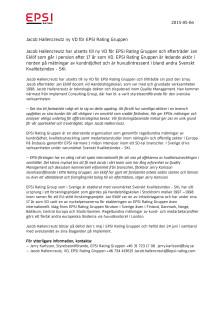 Jacob Hallencreutz ny VD för EPSI Rating Gruppen