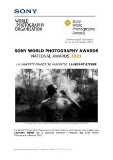 SONY WORLD PHOTOGRAPHY AWARDS NATIONAL AWARDS 2021