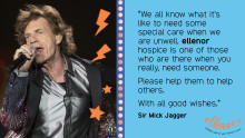 Message of support from Dartford's very own Sir Mick Jagger