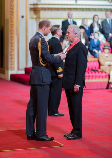 Vice-Chancellor receives CBE at Buckingham Palace