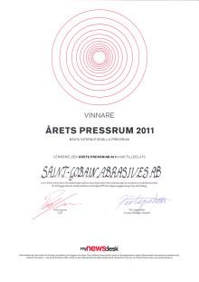 """Diplom """"Bästa Internationella Pressrum"""""""