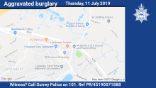 Appeal for witnesses following aggravated burglary in Lightwater