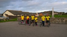BT'S Highland contact centre cyclists raise cash for hospice