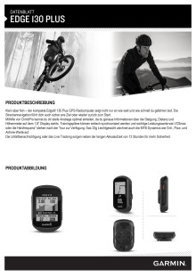 Datenblatt Garmin Edge 130 Plus