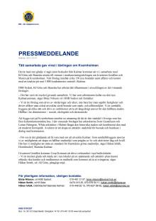 Tätt samarbete gav vinst i tävlingen om Kvarnholmen