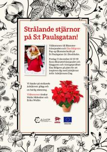 Välkommen till Elsa Billgrens och Blomsterfrämjandets pop-up butik med strålande julstjärnor