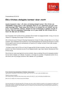 Ella's Kitchens ekologiska barnmat växer starkt