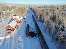 Vinterns tågtrafik på Inlandsbanan ökar med 40 procent