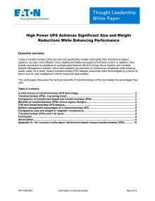 White paper: Fördelarna med transformatorlösa UPS:er