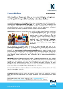 Kieler Segelkinder fahren nach China zur International Qingdao Sailing Week