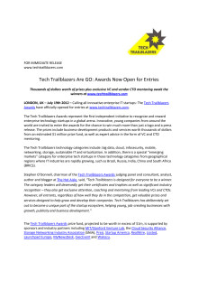 Tech Trailblazers Are GO: Awards Now Open for Entries: Calling all innovative enterprise IT startups