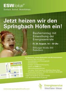 Energieservice Westfalen Weser heizt den Springbach Höfen ein!