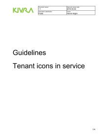 Riktlinjer för avsändares ikoner i tjänsten