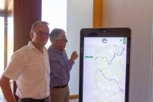 """Erster digitaler Touchpoint """"Mein Brandenburg"""" in der NaturThermeTemplin vorgestellt"""