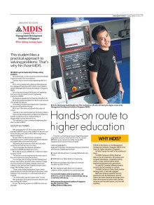 Hands-on route to higher education