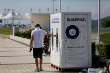 Sailing is more fun without throwaway plastics, so Bluewater serves crystal clear water without plastics at 2018 52 Super Series