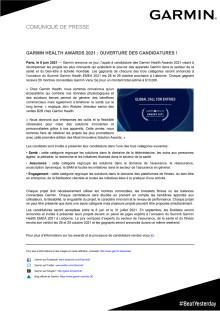 CP Garmin Health Awards 2021