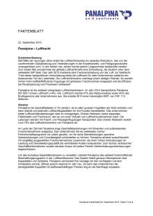 Faktenblatt: Panalpina – Luftfracht