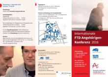 Einladungsflyer zur FTD-Angehörigenkonferenz 2016