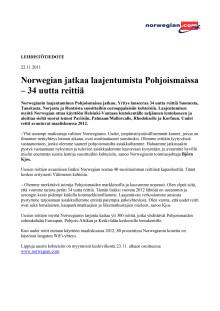 Norwegian jatkaa laajentumista Pohjoismaissa – 34 uutta reittiä