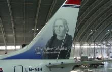 Colón y Elcano ya decoran las colas de dos aviones de Norwegian