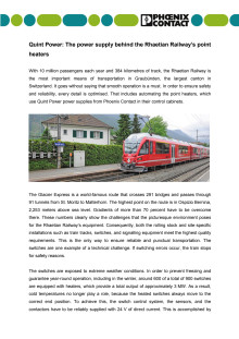 Quint Power: The power supply behind the Rhaetian Railway's point heaters
